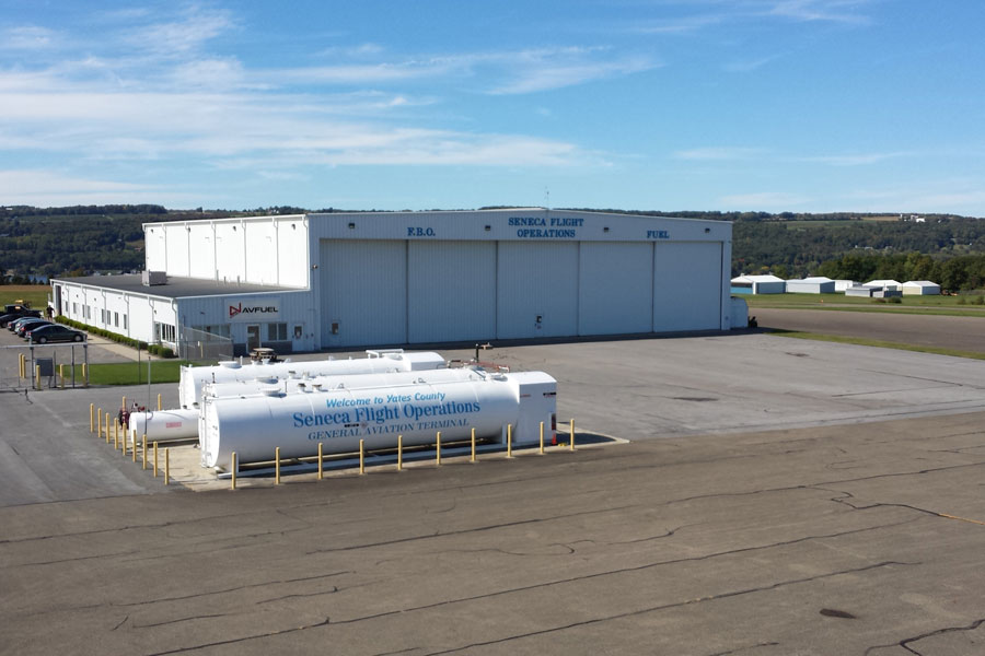 Hangar and FBO Entrance